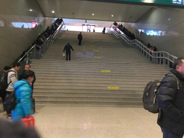 Escalators are on the edges: could you tell?